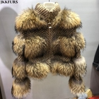 New and Hot Design Jacket Real Raccoon Fur Coat Winter Women Fashion Design Outerwear