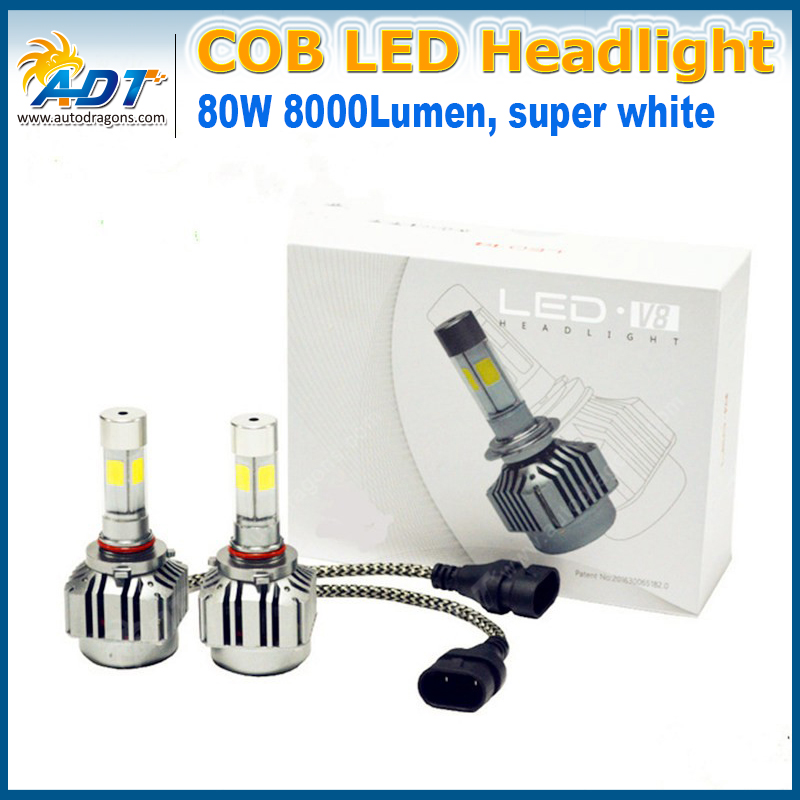 Auto spare parts High Quality Led Car Headlight automotive led headlight V8 h4