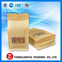 Factory directly deal Customized with zipper for dry food Flat bottom Pouch