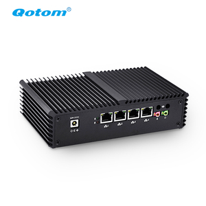 Qotom Barebone Ultra Low Power Firewall 4 Lan Fanless Mini Pc i7