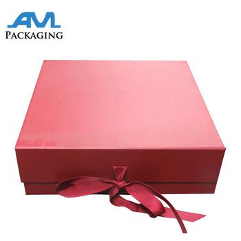 luxury rigid magnetic closure folding box template buy custom grey