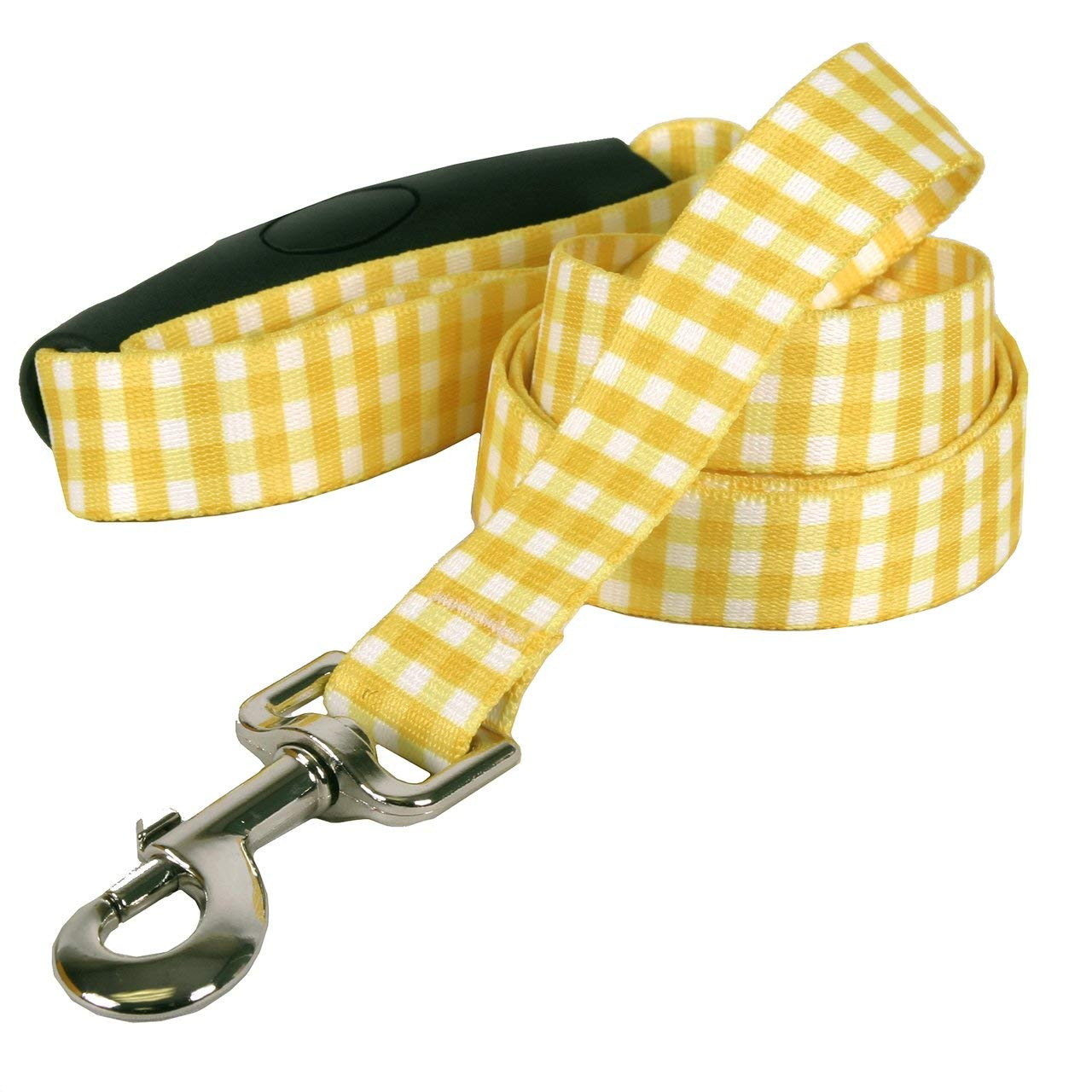 Southern Dawg Gingham Premium Dog Leash with Comfort Grip Handle