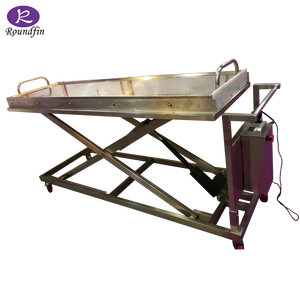 Roundfinfor funeral mortuary equipment mortuary trolley dead body stretcher