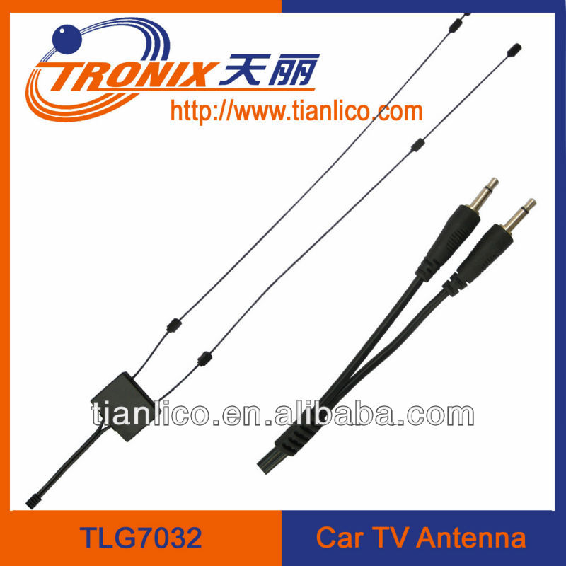 (Professional manufacturer)Active car TV antenna with high gain UHF/VHF glass mount for universal type cars