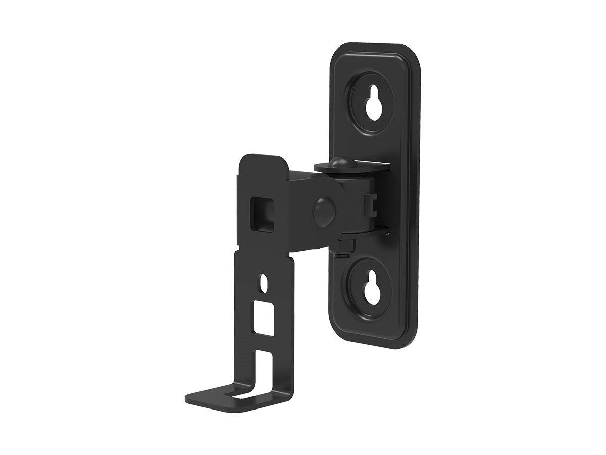 Monoprice Pivoting Speaker Wall Mount - Black for SONOS Play:1 Speakers | Cable Management, Easy Installation, Stong & Sturdy