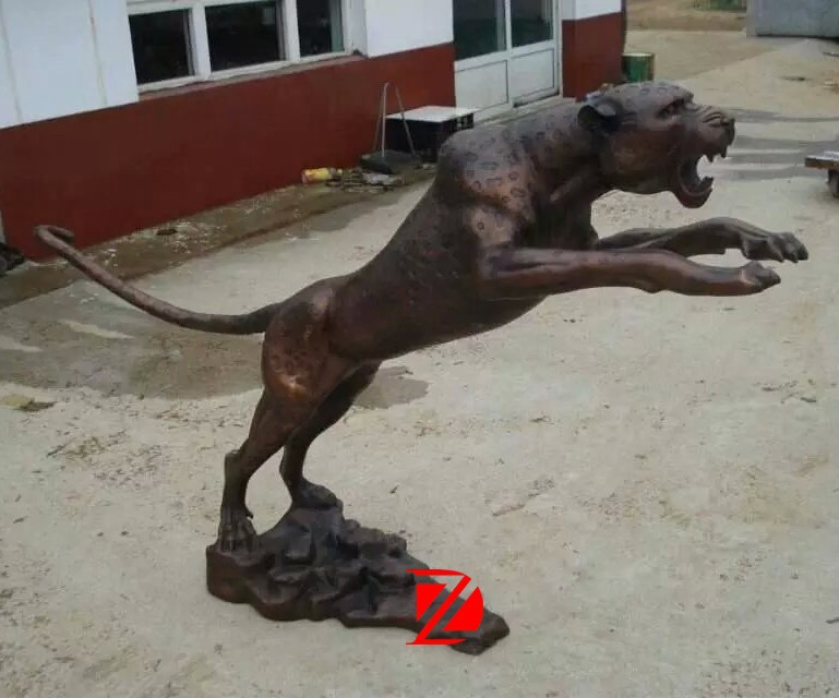 Life Size Bronze Animal Statue Leopard Panther For Garden Decoration Product On