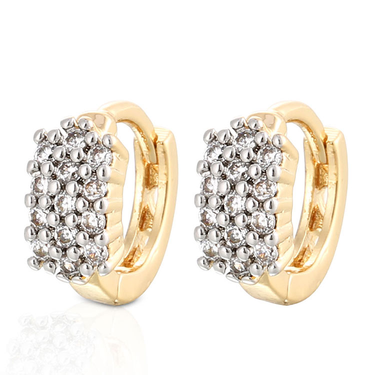 2018 Fashion lady zircon hoop party earring from Guangzhou earrings women jewelry