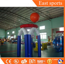 Kids water games inflatable basketball shoot hoop with factory price