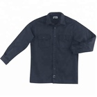 Black Uniform Black Mens Mechanic Work Shirt Jacket Uniform Fire Resistant Nomex Shirts
