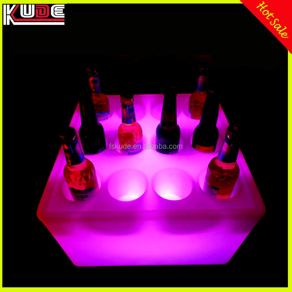 holiday decorative wine bottle holder/LED ice bucket wine rack with remote control
