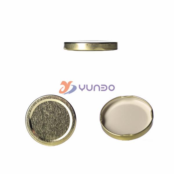 Straight Sided Clear Glass Jar 6 Oz W Gold Lid Buy