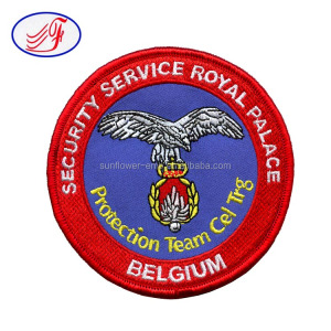 Iron on / Sew on style security service royal palace Belgium embroidery patch