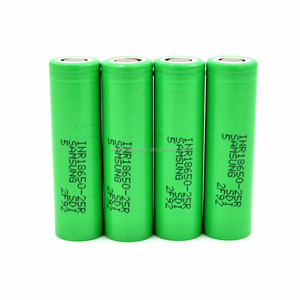 New Coming !100% Authentic Samsung18650 25R 2500 mAh 20A 3.6V rechargeable li-ion battery Samsung green 25R Flat Top