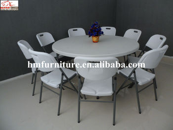 Modern  Designed 5FT Folding Round Table For 8 10 People Wholesale