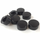 Round black plastic thumb rest for saxophone