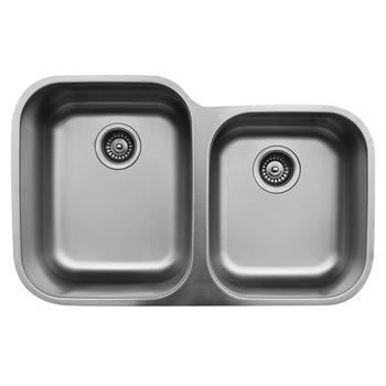 Brushed Satin Finish Undermount Kitchen Sinks 60 40 Stainless Steel Wash Basin