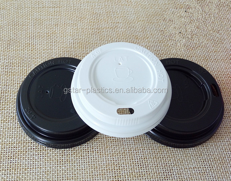 62m 72mm Wholesale White Black Coffee Cups Lid for 4oz 6oz Paper Cups