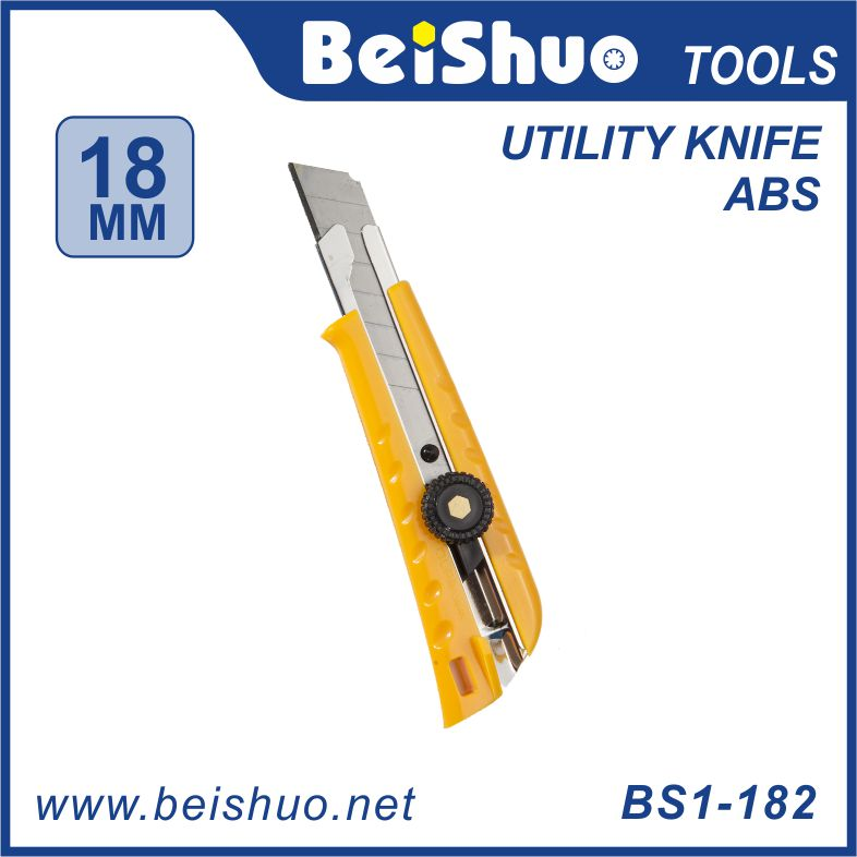 Utility knife ,cutter knife,pocket knife rubber cutter hand tools Auto Retractable Pocket Safety Utility Box Cutter Utility Knif