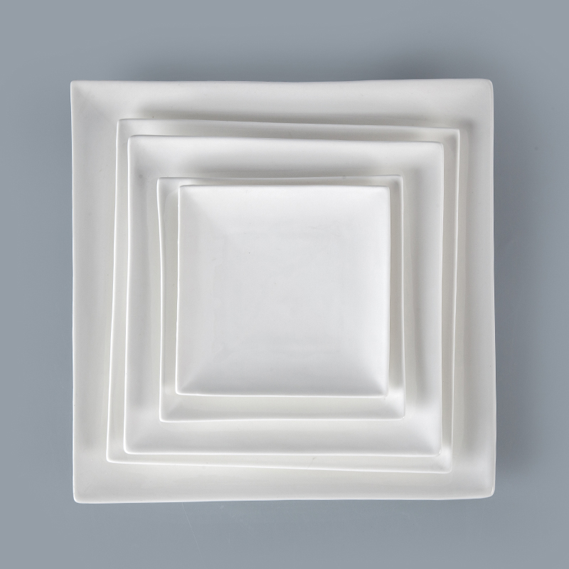 "Christmas Gift 10.5"" White Square Plate for Hotel Restaurant, dinner kitchen ware square plate/"