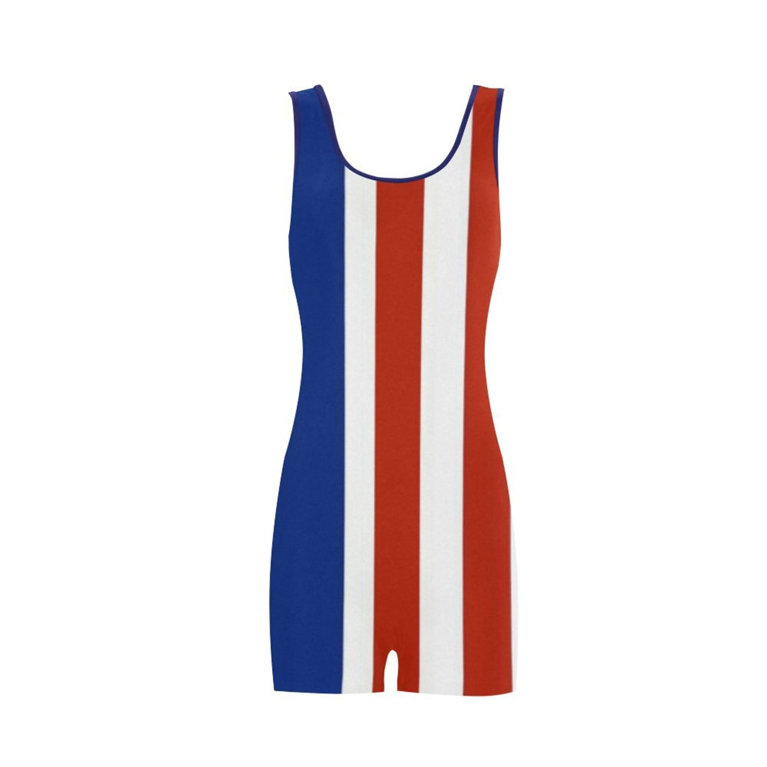 6da348ef49ada Get Quotations · Find Arts Customized Red White And Blue Stripes Classic  One Piece Swimwear Swimsuit Bathing Suit Beachwear