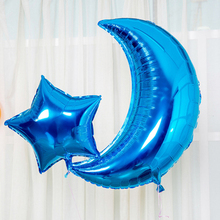 36 Inch Giant Moon Shape Metallic Helium Foil Mylar China Party Balloon