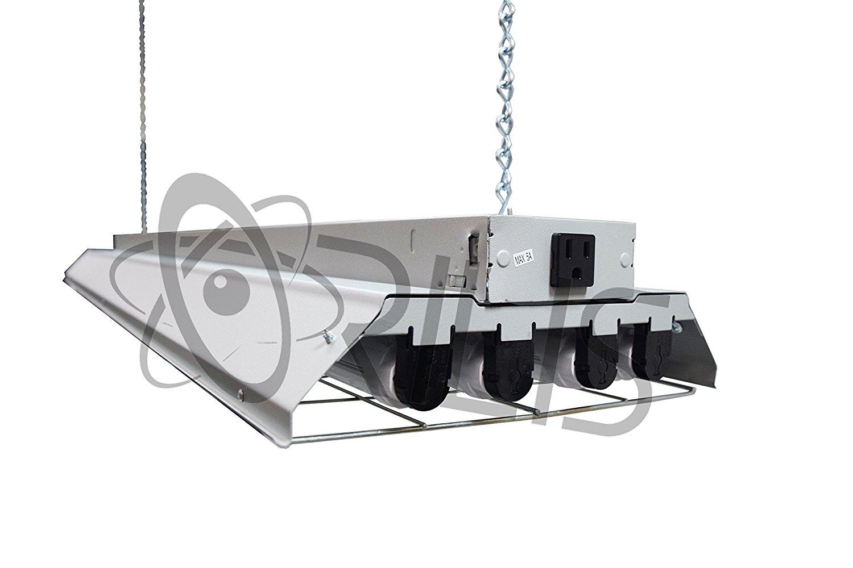 Buy Grey LED Garage 4 Ft. 96 Watt High Bay Hanging 4 Light Shop ...