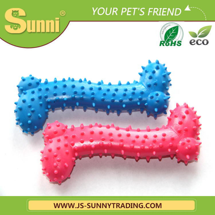 Wholesale new design latex dog toy squeaky Bones