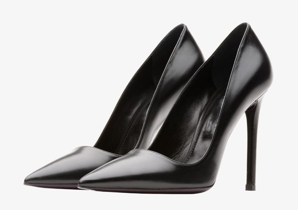 Bien-aimé 2016 luxe mode noir en cuir femmes crayon haute talon chaussures  MB28