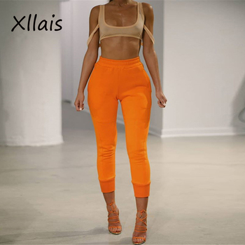 8137 New Female Trousers 2019 High Waist Stretch Slim Pencil Trousers Women Clothing Pants Sexy Women Lady Skinny Pants