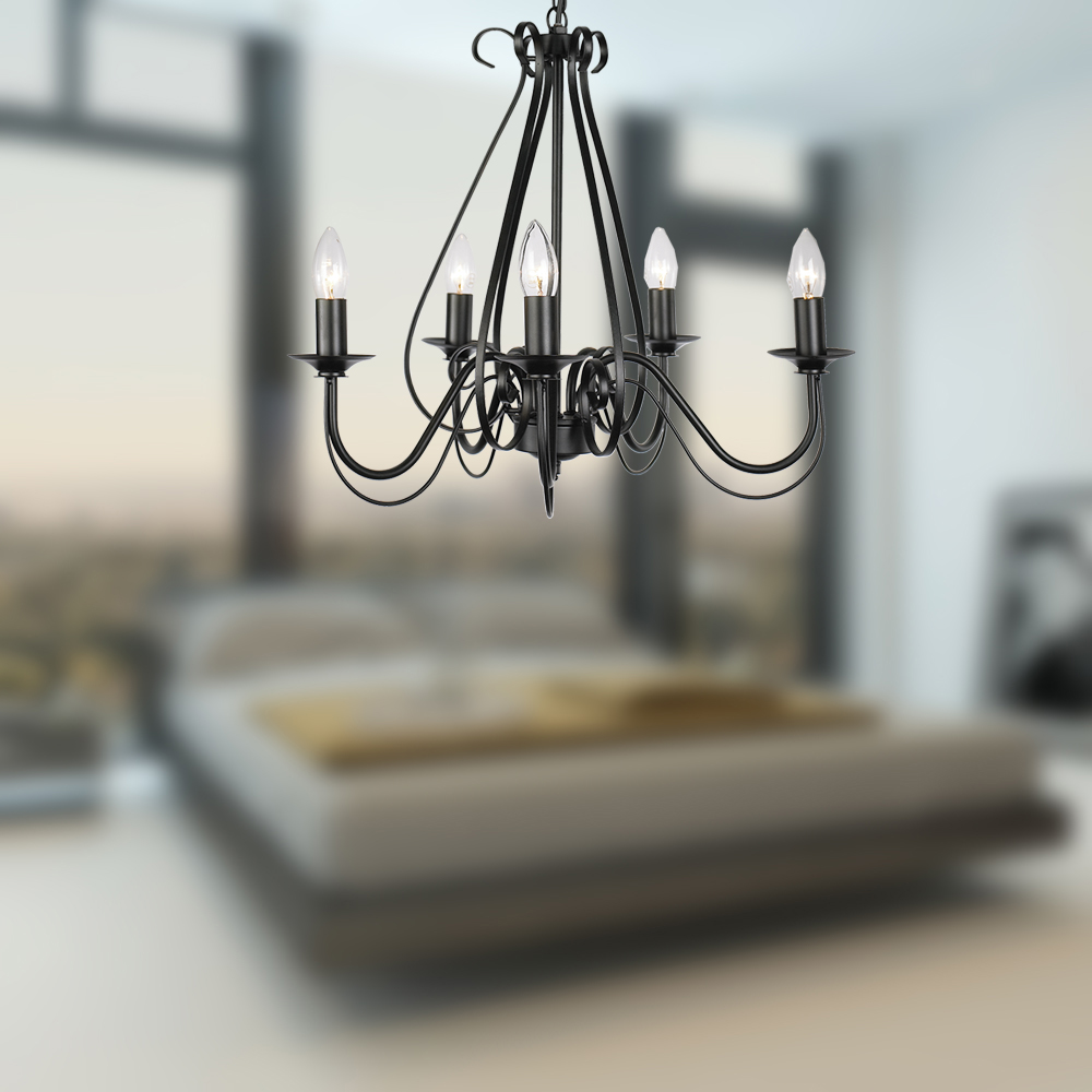 Bedroom Chandelier Black Iron Chandelier Home Center