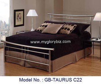 Stylish High Cl Look Metal Double Bed Home Bedroom Furniture Comfortable Contemporary Design