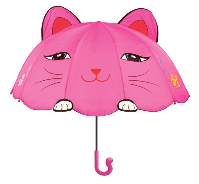 Бесплатная доставка фея мультфильм дети зонтик, дети Розовый Мари Кошка кошки зонты от дождя, смешной подарок на день рождения для ребенка