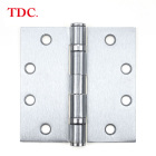 Door Hinges 3 Bearing Hinge Commercial Heavy Duty Door Hinges Ball Bearing 4 1/2 X 4 1/2- 3 Pack