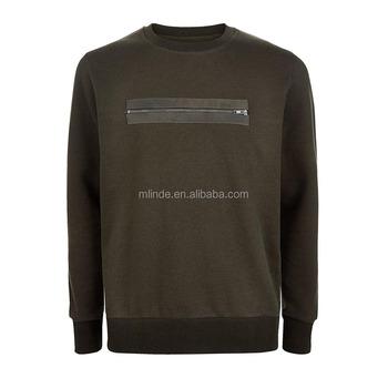 quality design e1105 dd4f3 Mode Pullover Sweater Mengangkat Bahu Hitam Zip Depan Diborgol Hem Sweater  Pria Sweater Desain Terbaru Untuk Pria - Buy Terbaru Desain Sweater Untuk  ...