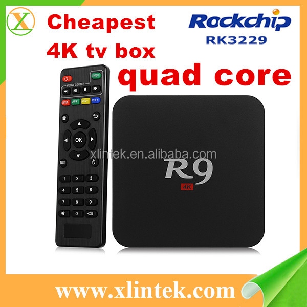 100M Lan Port IEEE 802.b/g/n wifi set top box R9 high speed smart TV box plastic material case