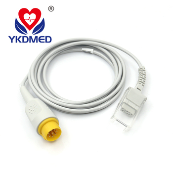MEK(CSI module) sensor extension cable, 2.2m 8pin>DB9F, direct supply medical pulse oximeter