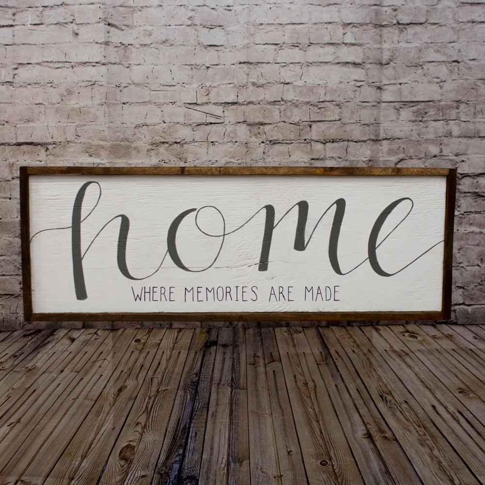 Get Quotations Home Sign Rustic Wood Mantle Decor Wall Living Room Art