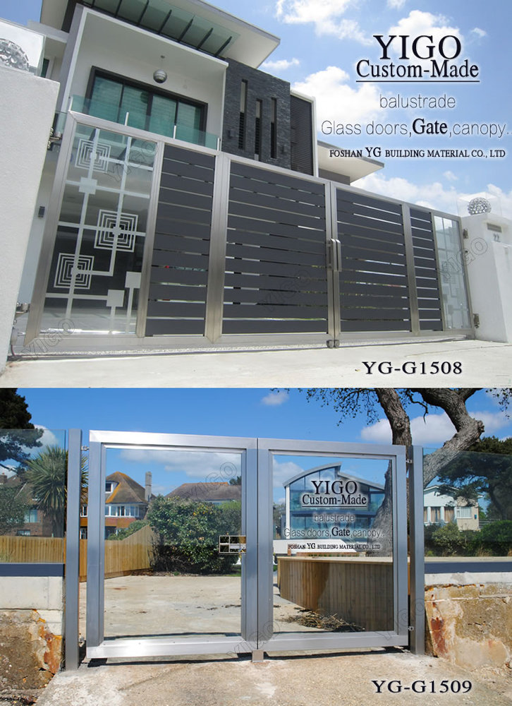 Modern stainless steel main gate design view modern steel for Modern house grill design
