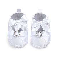 Cheap baby christening shoes newborn white shoes for girls