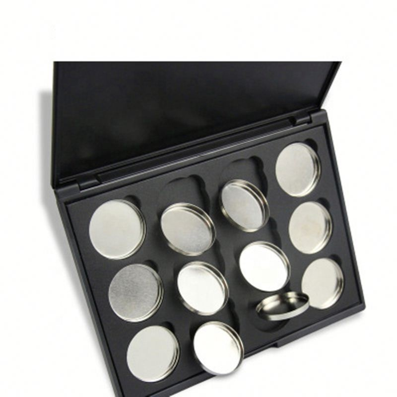 12 Hole DIY Make-Up Cosmetische Lege Magnetische Palet 26mm Metalen Pannen Eyeshadow Palette