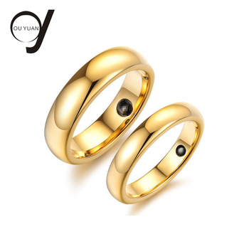 Wholesale 18K 8MM Plated Gold Tungsten Ring/Wedding Bands/Couple Tungsten Rings for sale from China Manufacturer