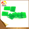 Hot sale fashion rectangle green jade stone dyed color raw green jade