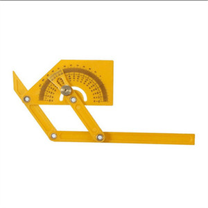 Ruler Precision Round Angle Measuring Drawing Circles Protractor Finder Rotary Measuring Ruler