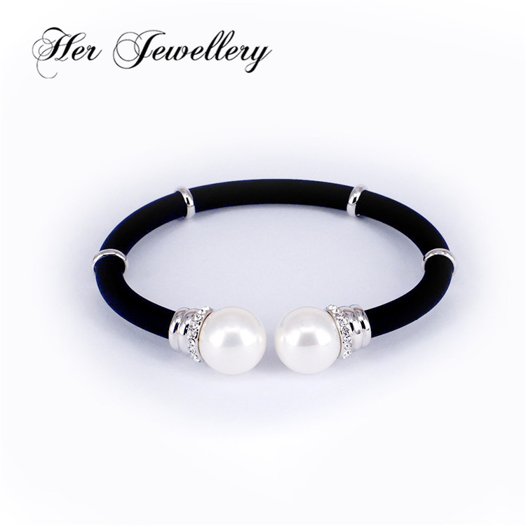 fashion women leather bracelet with pearl