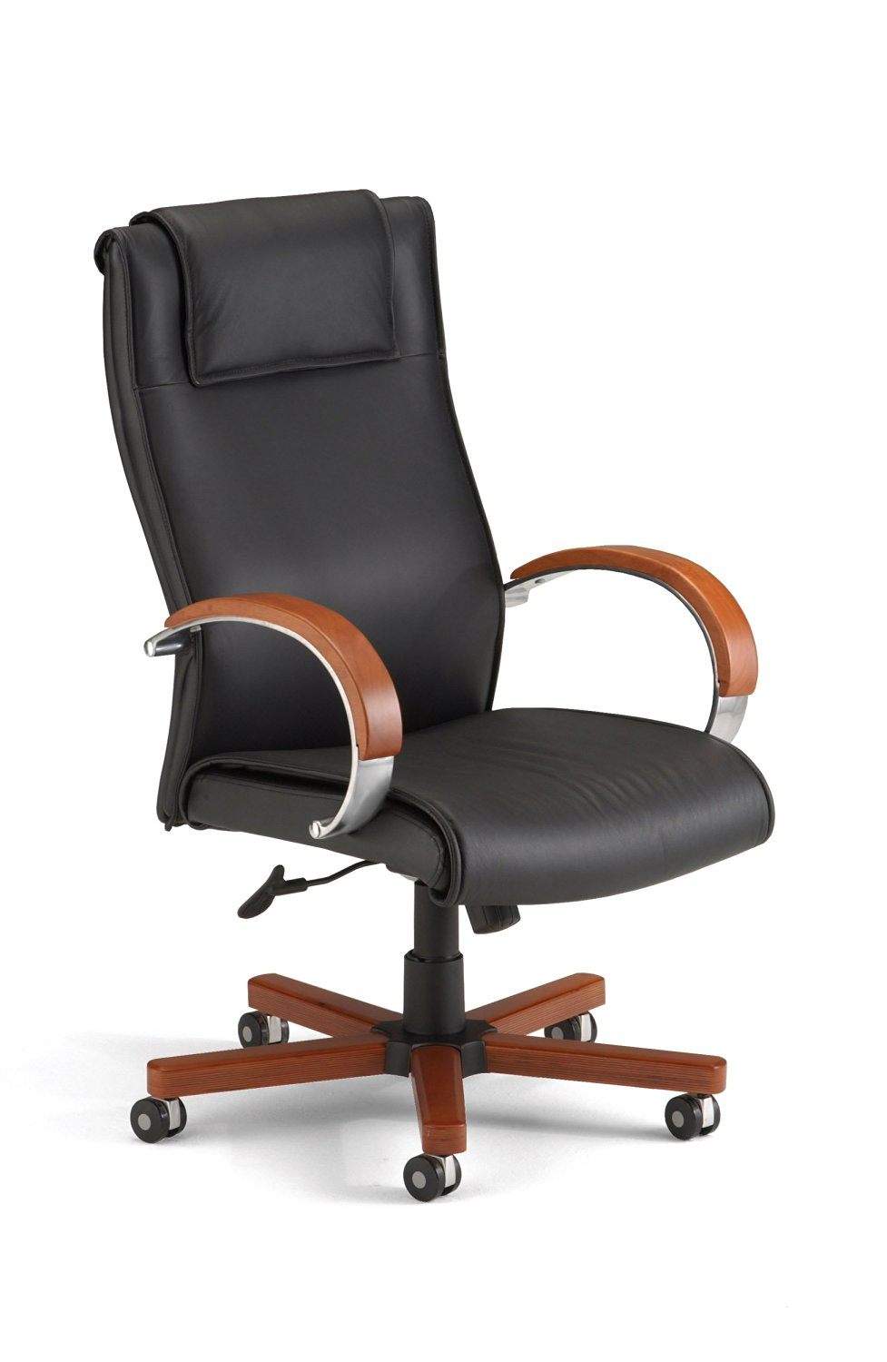 OFM Apex Hi-Back Executive Leather Chair - High Back Office Chair, Cherry (560-L)