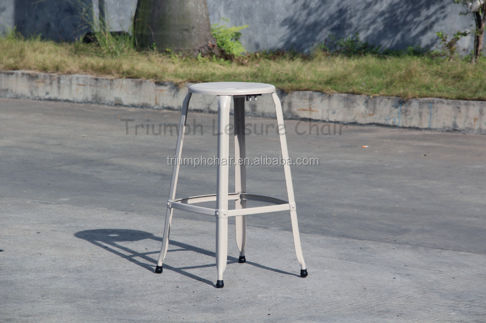 Triumph Vintage Style Industrial Bar Stool supplier / High Bar Stool footrest covers/ metal bar stool for heavy people