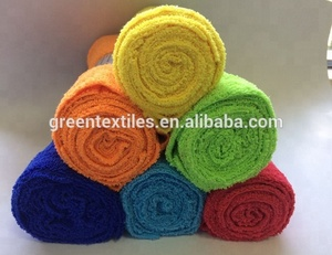 High quality multipurpose edgeless roll rolled microfiber cleaning towel