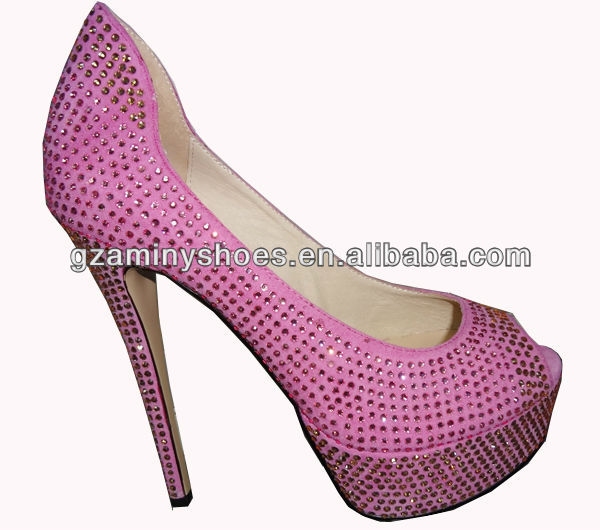 toe shoes high crystals sexy open Pink heel xnqHUw4fCp