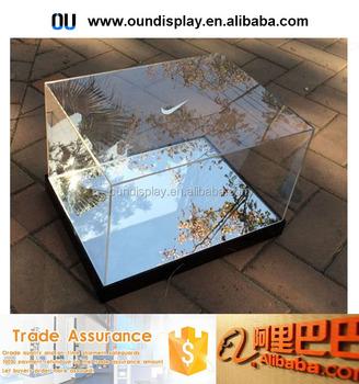 Acrylic Drop Front Shoe Box Nike Shoe Box For Men