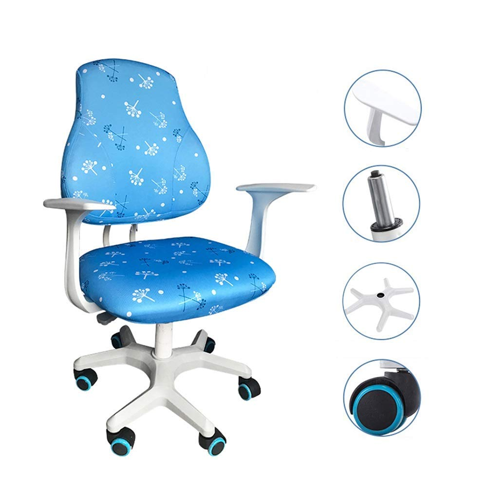 QFFL jiaozhengyi Swivel Chair,Children's Lifting Chair Student Computer Swivel Chair Home Back Seat Correction Posture Chair (Color : C)